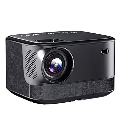 KIUY Proyector Full HD, proyector de películas y Juegos de Soporte, proyector de Video en casa, Compatible con Smartphone Game Console Computer Audio Audio Memoria USB Tarjeta de Memoria