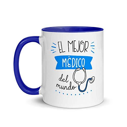 Kembilove Taza de Desayuno del Mejor Médico del Mundo – Tazas de Café para Profesionales y Trabajadores para la Oficina – Tazas de Té de Color para Profesionales – Taza de Cerámica de 350 Ml