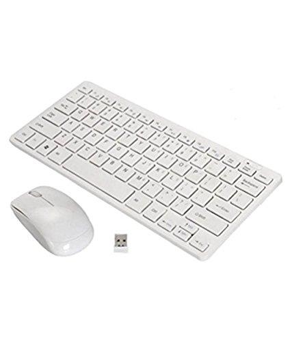 PremiumAV MST-734-N Wireless Mini Keyboard and Mouse (White)