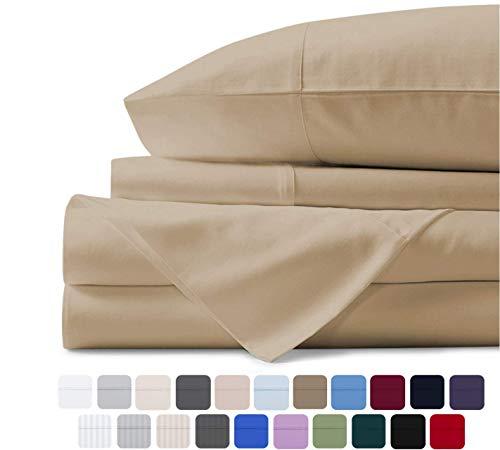 Mayfair Linen 100% Egyptian Cotton Sheets, Sand Queen Sheets Set, 800 Thread Count Long Staple...