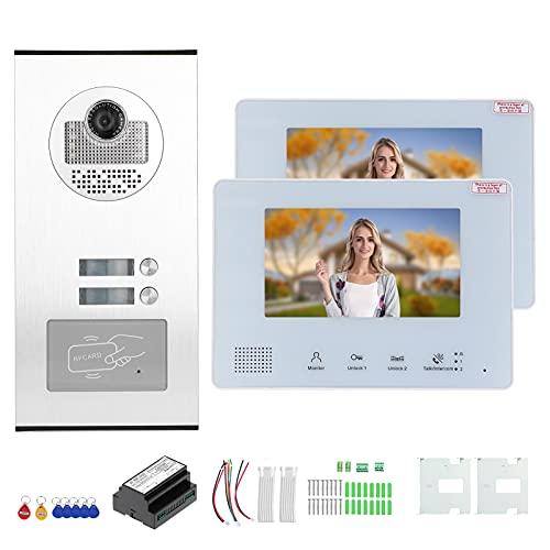 Teléfono de Puerta antirrobo, Timbre RFID Intercomunicador Manos Libres Flexible Desbloqueo de Llave RFID con Fuente de alimentación integrada para Sistemas de Seguridad en el hogar