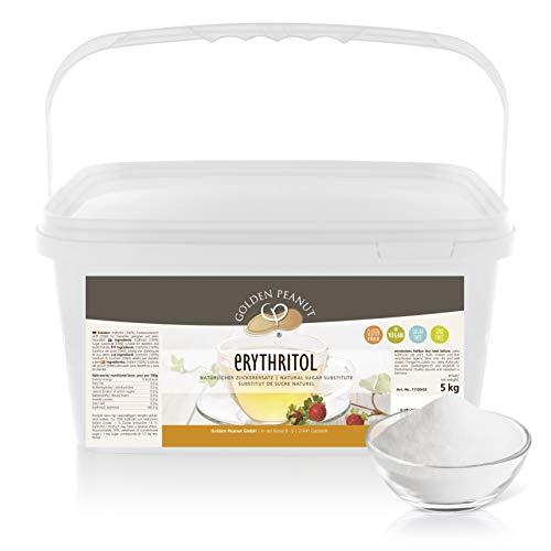 Erythritol Erythrit 5 kg | natürlicher Zucker-Ersatz | Kalorienfreies Süßungsmittel | vegan | zahnfreundlich | Golden Peanut