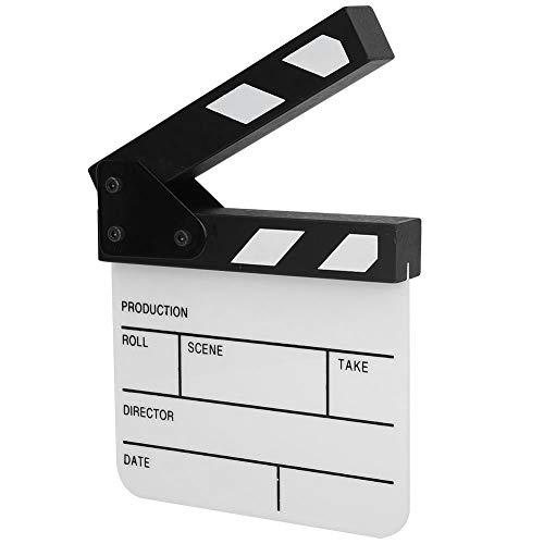 Klappbrädor Akryl Filmregissör Scen Kläppbräda Tv Actionbräda Filmskärning För Rekvisita/Reklam/Heminredning/Bakgrund