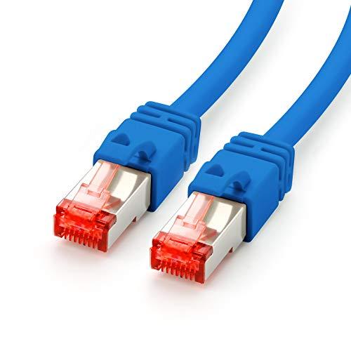 CAT.7 Ethernet Patchkabel (RJ45) | 2m | blau | LAN-Kabel | Netzwerkkabel | S/FTP | bis zu 10 Gbit/s