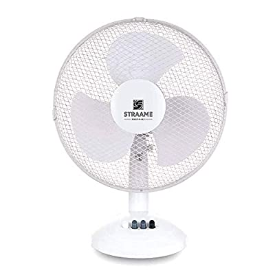"Straame Homeware | 12"" Desk Fan High Performance 