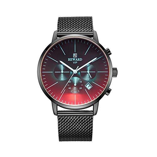 Raspbery Reloj de cuarzo Reloj impermeable minimalista ultrafino con correa de malla Concha dorada Oro Concha rosa Azul Concha negra Negra Concha blanca Blanca chic