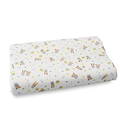 MRBJC Almohada de cama para niños, antialérgico, para niños, recién nacidos, almohada hipoalergénica, 45 x 27 x 6/9 cm