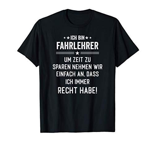 Fahrlehrer Geschenk Fahrschule T-Shirt