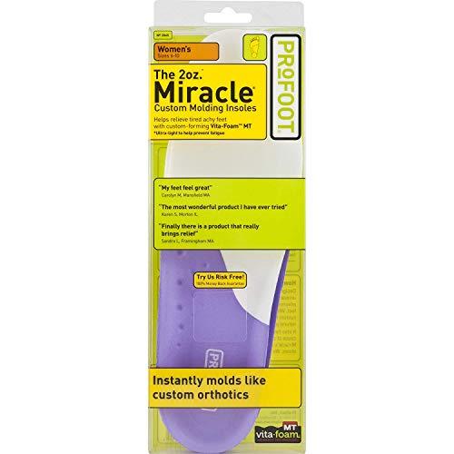 ProFoot Original Miracle Custom Molding Orthotic Insoles, Women's 6-10, 1 Pair