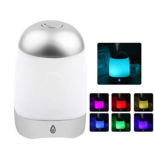 SUNSHINE HOME&3 Humidificador de aromaterapia 250 ml USB Atomización por ultrasonidos Difusor de Aceite Colorido Luminoso Escasez de Agua/Potencia rodante Adecuado para la Oficina en casa Yoga SPA