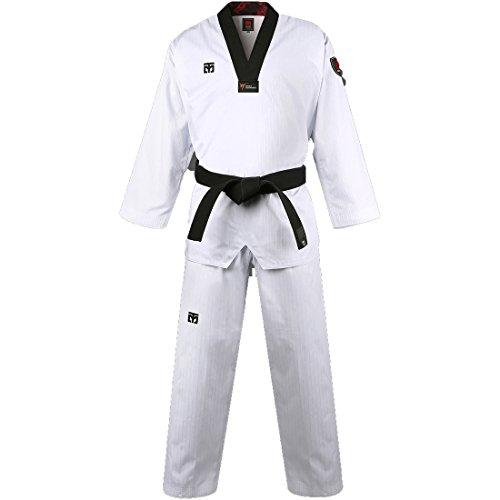 Mooto Corea Taekwondo básica 4.5 Uniforme dobok para Hombre 210(Altura: 210~219cm)(6.88~7.19ft) Blanco