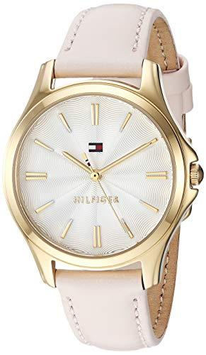 Tommy Hilfiger Damen Analog Quarz Uhr mit Leder Armband 1781954