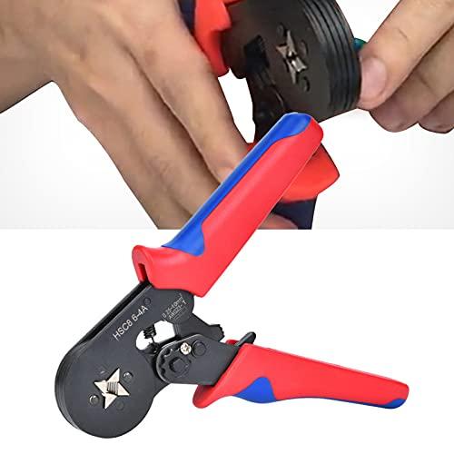 Crimpadora de alicates 6.-4 A. 0.25 ~ 10 mm² Ratchet. Freno crimpado pinzas para crimpado Spolo tubular, terminales y preaislados terminales