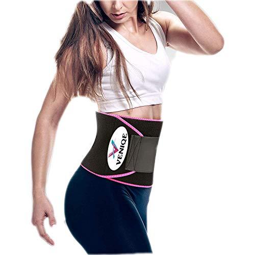 Unique Enterprise Flexible Slim Belt for Men Women Waist Stomach Belt Shaper Fitness Belt Yoga wrap Fat Burner Belt Unisex Weight Loss Back Pain Gym(Pink-Color)