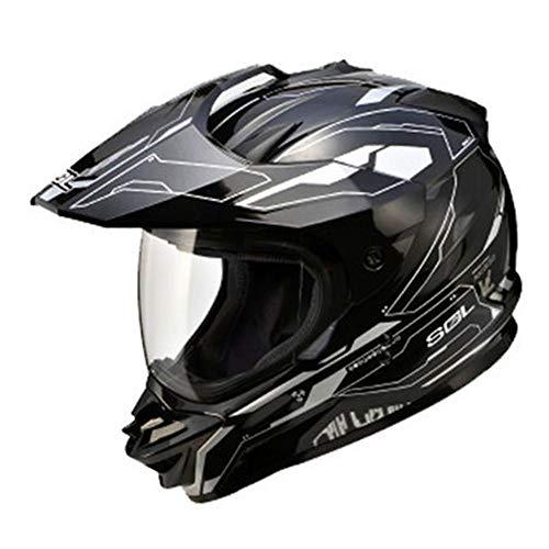 Motocrosshelme Downhill Fullface Helm Lokomotive Endurohelm Mit Visier Und Sonnenblende Thermoplasthelm Motorradhelm Integralhelm Crosshelm Klapphelm Double Lens Motocross Schutzhelm,C,XL