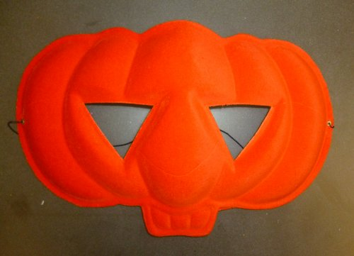 Orange Lot de 12 masques en forme de citrouille d'Halloween ou déguisement sacs (HW224)