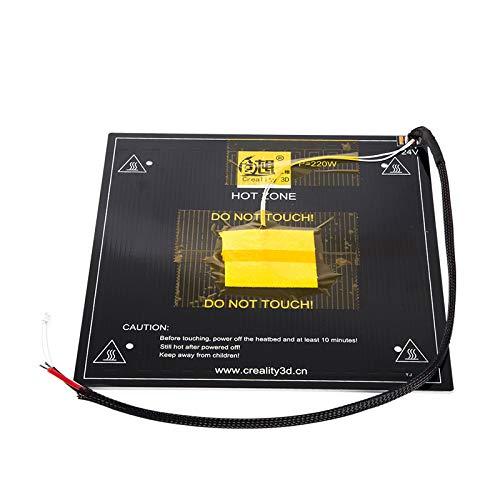 Accesorios para impresoras 5D,Placa de la cama caliente, piezas 3D papeles panel DC 24 aluminio calentado plataforma de la cama caliente, para la impresora 3D ender