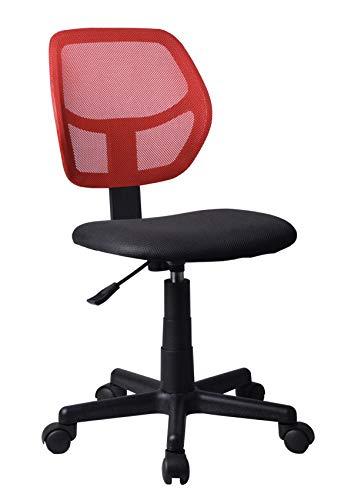 Decohouse Silla Oficina Escritorio Ordenador giratoria Calidad cómoda Altura Regulable ergonómica Color Rojo Asiento Negro Elegante