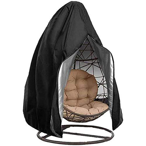 Yeglg Funda para silla colgante de patio 210D, impermeable, resistente al viento, anti-UV, resistente al polvo, protector UV para silla de huevo al aire libre, columpio