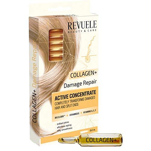 Ampollas Concentrado Activo para Cabello + Activador Crecimiento de Pelo efecto evidente después de una caja No hace falta lavar posteriormente (para Cabello Collagen)