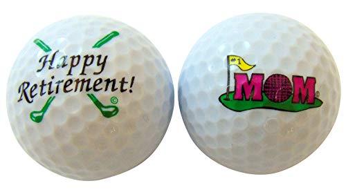 sports fan golf gift sets Westman Works Happy Retirement Mom Golf Ball Golfer Gift Pack, Set of 2