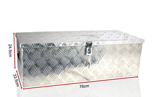 POINSETTIA Aluminum Tool Box Trailer Storage for Truck 76x33.5x24.5cm, Silver