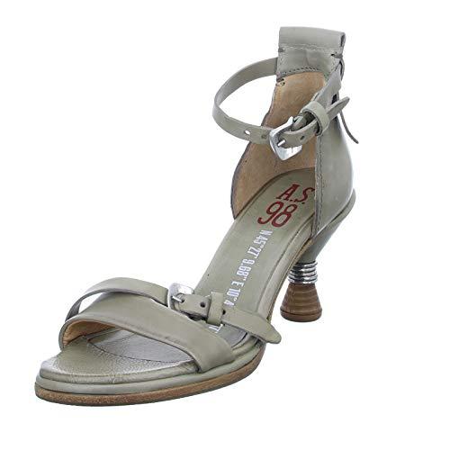 A.S. 98 Damen Sandalette A01003 Stiletto mit Lederriemchen Khaki (Africa 36) Größe 39 EU