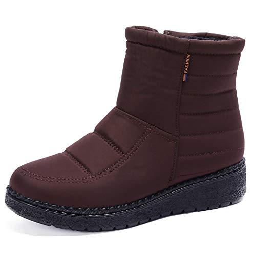 MOMOXI 2019 Botas para Mujer Soporte del Arco Cómodos Botines de Deslizamiento Plano Zapatos Casuales para Mujer Otoño Invierno con Hebilla con Cremallera Moda para Mujer Pisos Casuales Zapatos