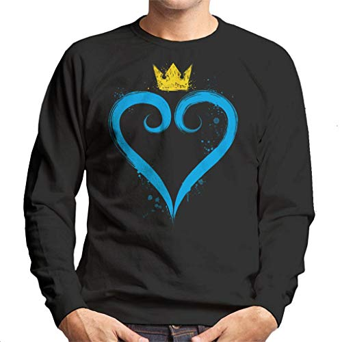 Cloud City 7 Kingdom Hearts Crown Heart Men's Sweatshirt
