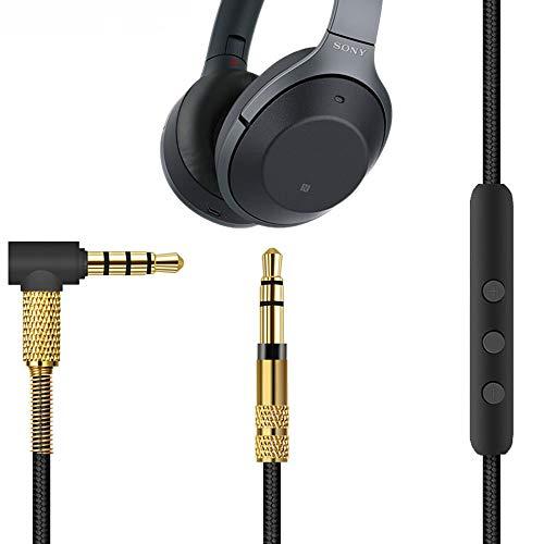 3,5 mm Ersatzkabel für Audiokabel mit Inline-Mikrofon und Fernbedienung für Sony MDR/Sony WH/Beats/Audio-Technica/B & O
