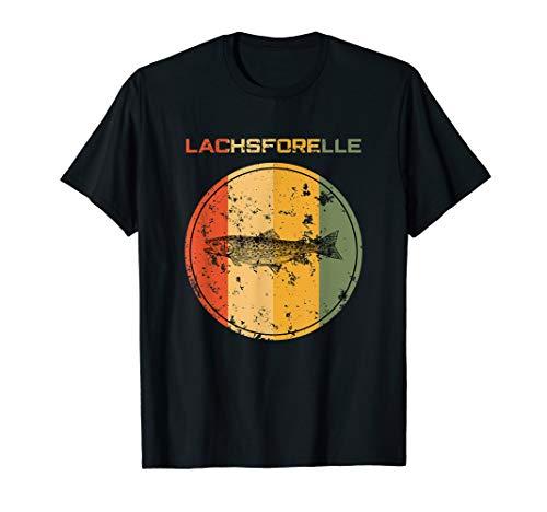 Angeln Lachsforelle Lustig Fisch Retro Forelle Zubehör Anke T-Shirt