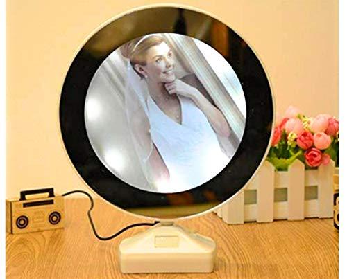 JIADA Magic Mirror Photo Frame| Magic Mirror LED Photo Frame| Birthday/Valentine's Gift| Surprise Decoration| Attractive Mirror| Round Mirror
