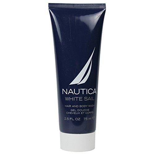 NAUTICA WHITE SAIL by Nautica for MEN: HAIR & BODY WASH 2.5 OZ