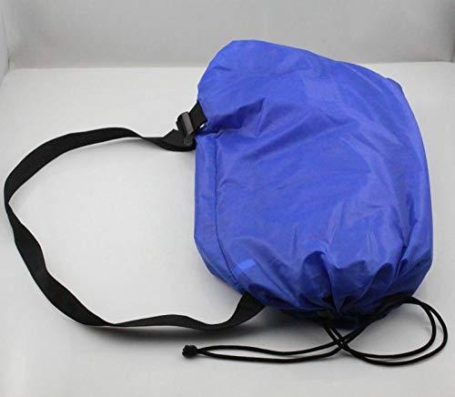 APQMR Air Lounger 1 Stück 6 Farben Aufblasbarer Schlafsack Camping Mehrfarbige Luftbettliege Lazy Bag Hangout Laybag Luftsofa-Navy_Blue