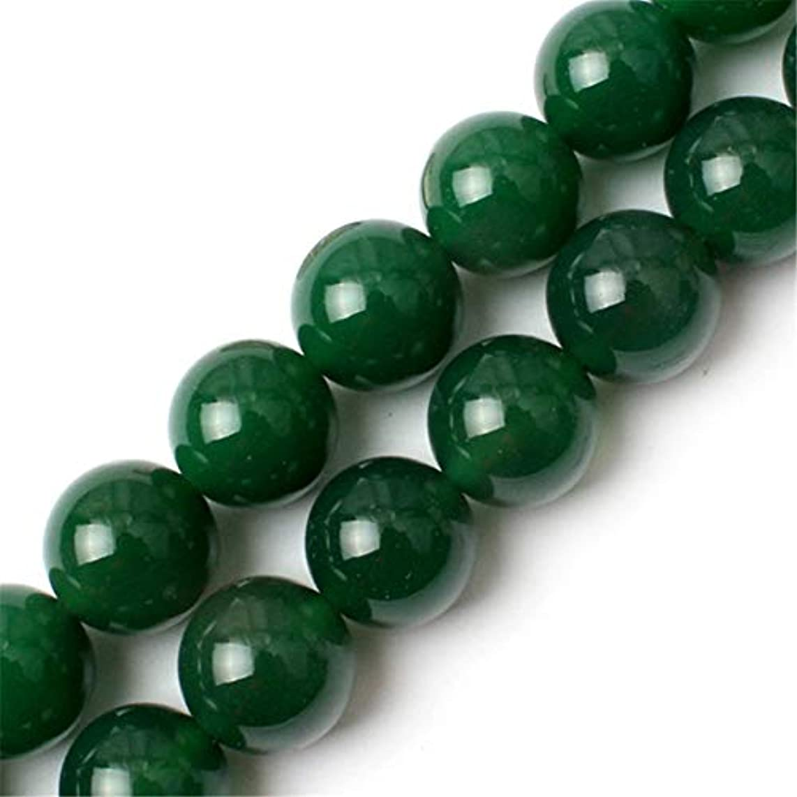 Green Agate Beads for Jewelry Making Natural Semi Precious Gemstone 14mm Round Strand 15