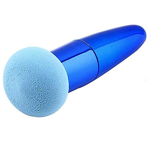 Flawless Cosmetic Makeup Brushes Set Liquid Cream Powder Foundation Sponge Brush (Blue) by Broadfashion