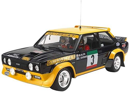 Tamiya 20069-000 Fiat 131 Abarth Rally Olio - Réplica Fiel a maqueta, plástico, Manualidades, Hobby, Pegamento, maqueta, Montaje, sin Pintar, Azul/Amarillo