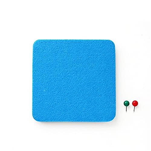 Azulejos De Pared Autoadhesivos Etiqueta Engomada De La Pared De Fieltro Cuadrado Innovador Multifuncional Decoración De Oficina, Papel Tapiz (Size:One Size; Color:Blue)