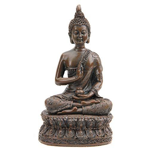 Leekung Buddha Statue for Home Decoration,Antique Meditative Buddah Statues,Meditation Mini Buddha Decor Brown 6.5'