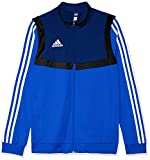 adidas TIRO 19, Felpa con Zip Bambino, Blu Grassetto/Bianco, 1112
