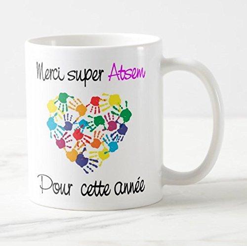 Taza con texto en inglés 'Le Año Super Atsem pour este año, diseño de corazón