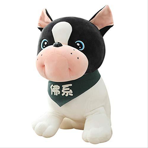 JIAL Simulation von plötzlichem Reichtum Hund Stierkampf Hund Puppe Schal Hund Tuch-Puppe-Kind-Plüsch-Spielzeug-Kissen Geburtstag 30Cm Chongxiang