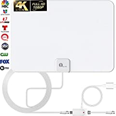 ✅ LIFETIME FREE 4K & HD CHANNELS: UPGRADED TV antenna no more needs to pay a HUGE bill on TV. Our HD antenna can receive FULL HD Channels like ABC, CBS, NBC, PBC, Fox and SO MUCH MORE. With amplified tv antenna start to access all of the news, sitcom...
