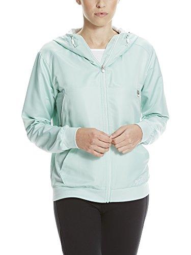 Bench Damen Lightweight Bomber Sportsweatshirt, Türkis (Cream Marl GR126), 40 (Herstellergröße: L)