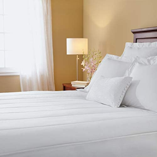 Sunbeam Heated Mattress Pad Quilted 10 Heat Settings White Twin MSU2KTS V000 11A00 product image