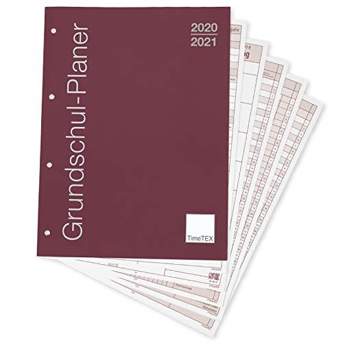 TimeTEX Grundschul-Planer - Loseblatt-Einlage A4-Plus - Schuljahr 2020-2021 - Lehrerkalender - Unterrichtsplaner - Schulplaner - 10719