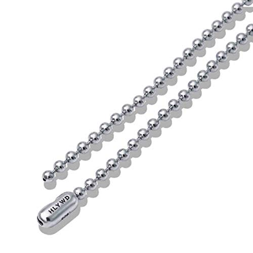 Daesar Collar Plata Hombre 925 Plata Collar Ancho 3mm Cadena de Bola Collar 32 Inch