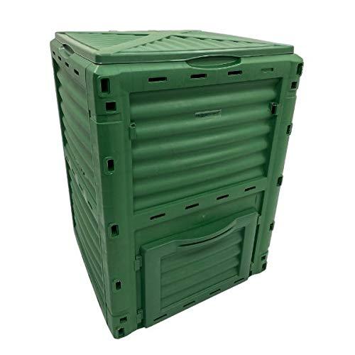 HuggleGreens-Plastic-Garden-Compost-Bin-300-Litre-Outdoor-Eco-Composter-Soil-Recycling-Storage-Box