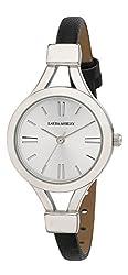 powerful Laura Ashley LA31011SS Analog Display Ladies Watch Japanese Quartz Black Watch