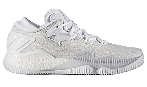 adidas Herren Crazylight Boost Low 2016 Basketballschuhe, Weiß (Ftwbla/Ftwbla/Gricla), 54 2/3 EU
